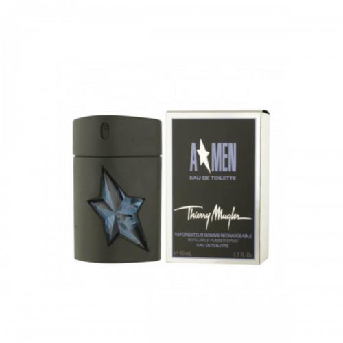 Apa de toaleta Thierry Mugler A*Men Rubber Flask Refillable, Barbati, 50ml